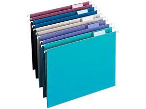 Smead 64056 Designer Assortment Hanging Folders, 1/5 Tab, 11 Point Stock, Letter, 25/Box
