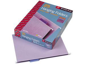 Smead 64064 Hanging File Folders, 1/5 Tab, 11 Point Stock, Letter, Lavender, 25/Box