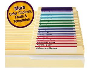 Smead 64920 Viewables Color Labeling System, Top Tab Folder, 3 1/2 x 1 1/4, White, 160/Pack