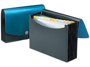 Smead 70863 Expanding File, 12 Pockets, Poly, Letter, Black/Blue