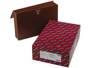 Smead 72475 5 1/4 Inch Expansion Wallets with Cord, Six Pocket, Redrope, Legal, 10/Box