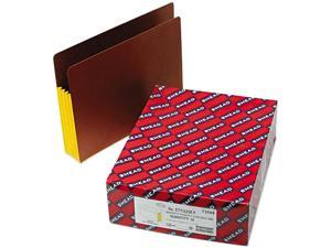 Smead 73688 3 1/2 Inch Expansion File PocketsStraight Tab, Letter, Yellow/Redrope, 10/Box