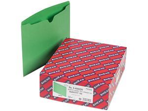 Smead 75503 File Jackets, Reinforced Double-Ply Tab, Letter, 11 Point Stock, Green, 100/Box
