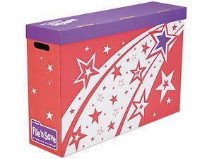 TREND T1020 File 'n Save Bulletin Board Storage Box, 27-3/4 x 19 x 7-1/4, Bright Stars