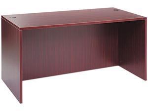 Valencia Series Straight Front Desk Shell, 59-1/8w x 29-1/2d x 29-1/2h, Mahogany