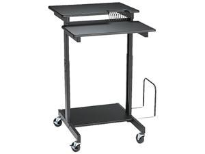 BALT 85052 Web A/V Stand-Up Workstation, 34w x 31d x 44-1/2h, Black