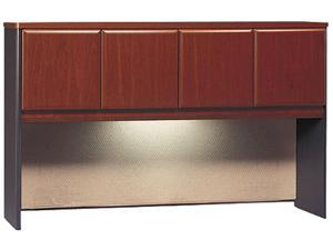BUSH FURNITURE Series A Hutch, 60w x 13-7/8d x 36-1/2h, Hansen Cherry/Galaxy