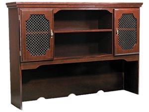 Governors Series Hutch For Kneespace Credenza, 60w x 13d x 46h, Mahogany