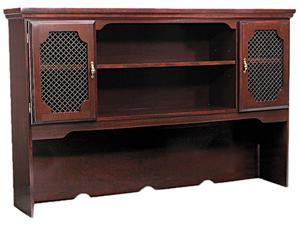 Governors Series Laminate Hutch F/ Kneespace Credenza, 66w x 13d x 46h, Mahogany