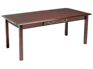 Governor's Series Table Desk, 72w x 36d x 30h, Mahogany