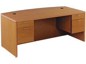 Valido 11500 Bow Top Double Pedestal Desk, 72w x 36d x 29-1/2h, Bourbon Cherry