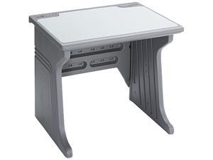 Aspira Modular Workstation Desk, Resin, 34w x 28d x 30h, Charcoal