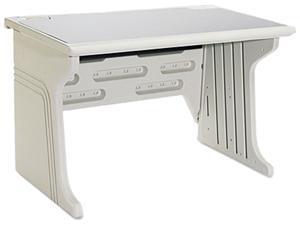 Aspira Modular Workstation Desk, Resin, 48w x 28d x 30h, Platinum