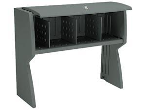 Iceberg Aspira Hutch, Resin, 43-1/2w x 16-1/4d x 36h, Charcoal