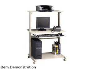 "Mayline Mobile Multimedia Computer Workstation - Rectangle - 36.75"" x 21.25"" x 50"" - Steel, Polyvinyl Chloride (PVC) - Gray ..."