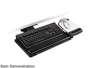 3M MMMAKT80LE Knob Adjust Keyboard Tray With Highly Adjustable Platform, Black