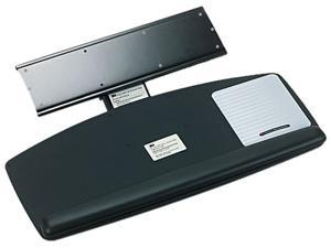 Knob Adjust Keyboard Tray With Standard Platform, 25 1/5w X 12d, Black