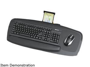 Safco 2145BL Premier Series Keyboard Platforms, Black