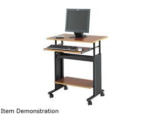 "Safco 1925CY 28"" Wide Adjustable Height Workstation, 22d x 34h, Cherry Laminate"