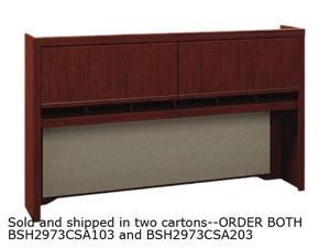 Bush Enterprise Collection Tall Hutch, 70w x 12d x 42h, Harvest Cherry, Carton 2