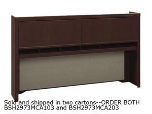 Bush Enterprise Collection Tall Hutch, 70w x 12d x 42h, Mocha Cherry, Carton 2