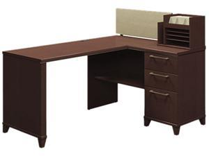 Bush Enterprise Corner Desk, 60w x 47d x 41-3/4h, Mocha Cherry, Carton 2
