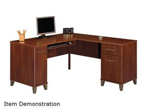 "Bush Furniture Signature WC81730 Somerset Collection L-Desk 60"" - Hansen Cherry"