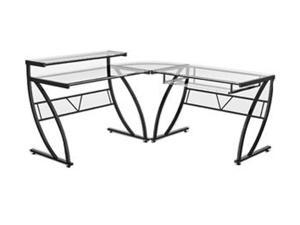 Z-Line Designs ZL1441-1DU Belair Glass L-Shaped Computer Desk