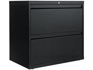 Alera LA52-3029BL (ALELF3029BL) Two-Drawer Lateral File Cabinet, 30w x 19-1/4d x 29h, Black