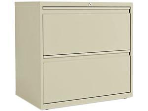Alera LA52-3029PY (ALELF3029PY) Two-Drawer Lateral File Cabinet, 30w x 19-1/4d x 29h, Putty