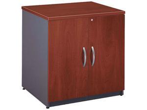 BUSH FURNITURE WC24496A Series C 2 Door Cabinet, 29-1/2 x 23-3/8 x 29-7/8, Hansen Cherry/Graphite Gray