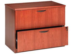 Basyx BW2170HH BW Veneer Series 2-Drawer Lateral File, 36 x 24 x 29,Bourbon Cherry