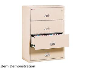 FireKing 43122CPA 4-Drawer Lateral File, 31-1/8w x 22-1/8d, UL Listed 350°, Ltr/Legal, Parchment