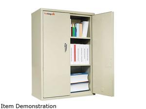 FireKing CF4436-D Storage Cabinet, 36w x 19-1/4d x 44h, UL Listed 350° for Fire, Parchment