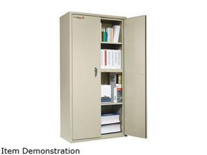 FireKing CF7236-D Storage Cabinet, 36w x 19-1/4d x 72h, UL Listed 350°, Parchment