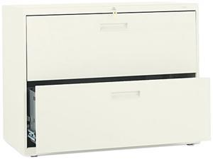 HON 582LL 500 Series Two-Drawer Lateral File, 36w x28-3/8h x19-1/4d, Putty