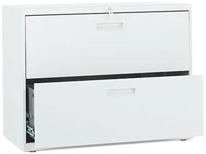 HON 582LQ 500 Series Two-Drawer Lateral File, 36w x28-3/8h x19-1/4d, Light Gray