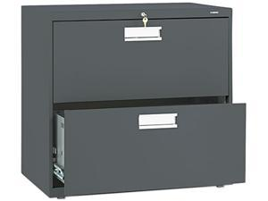HON 672LS 600 Series Two-Drawer Lateral File, 30w x19-1/4d, Charcoal
