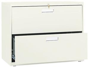 HON 682LL 600 Series Two-Drawer Lateral File, 36w x19-1/4d, Putty