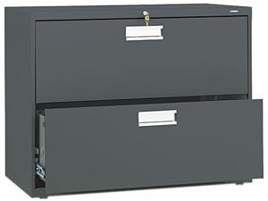 HON 682LS 600 Series Two-Drawer Lateral File, 36w x19-1/4d, Charcoal