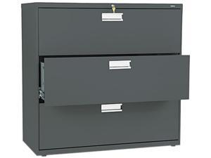 HON 693LS 600 Series Three-Drawer Lateral File, 42w x19-1/4d, Charcoal