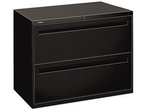 HON 782LP 700 Series Two-Drawer Lateral File, 36w x 19-1/4d, Black