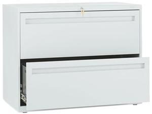 HON 782LQ 700 Series Two-Drawer Lateral File, 36w x 19-1/4d, Light Gray