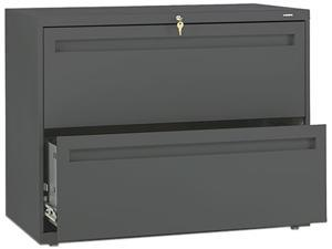 HON 782LS 700 Series Two-Drawer Lateral File, 36w x 19-1/4d, Charcoal