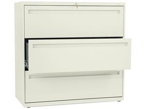 HON 793LL 700 Series Three-Drawer Lateral File, 42w x 19-1/4d, Putty