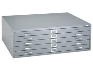 Safco 4996GRR Five-Drawer Steel Flat File, 46-3/8w x 35-3/8d x 16-1/2h, Gray