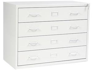 Safco 4930LG Four-Drawer Computer Disk/Data Cabinet, 37w x 17-3/8d x 27-3/4h, Lt Gray