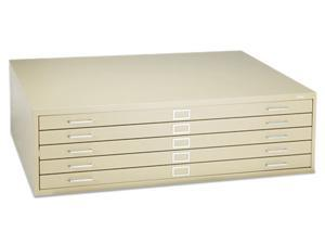 Safco 4998TSR Five-Drawer Steel Flat File, 53-3/8w x 41-3/8d x 16-1/2h, Tropic Sand