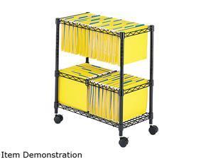 Two-Tier Rolling File Cart, 25-3/4w x 14d x 29-3/4h, Black