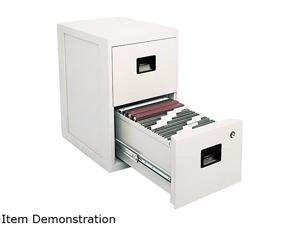 Sentry Safe 6000 FIRE-SAFE 2-Drawer Insulated Vertical File, 17-1/4w x 23-1/4d x 28h, Light Gray